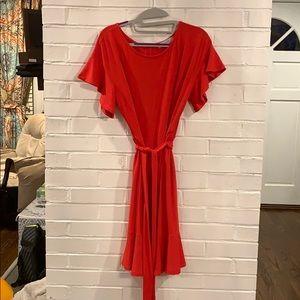Ann Taylor LOFT classic red dress